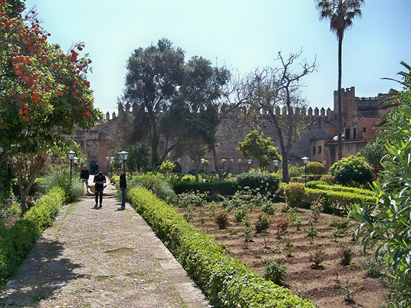Garden in Sultan's castle in Rabat