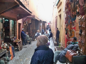 heading into the souk