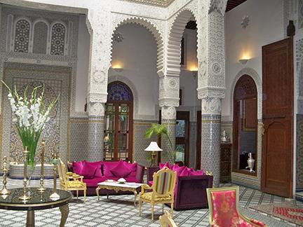 lobby Riad Fes