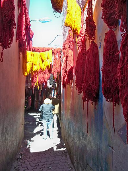 More yarn drying