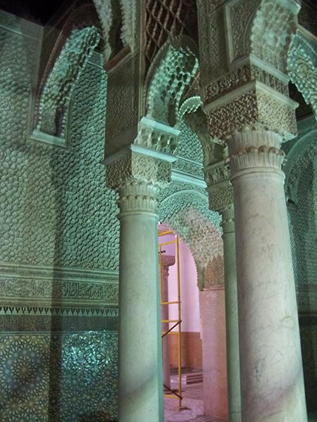 Ornate plaster in the Sultan's Tomb