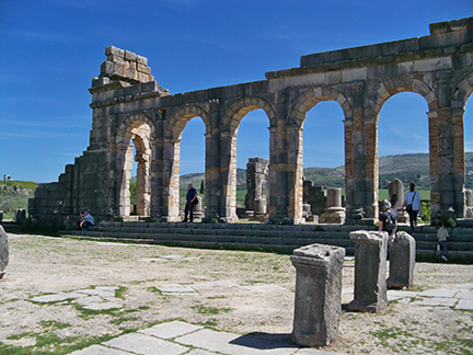 reconstructed arches at Volubilis