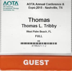 AOTA Guest Badge