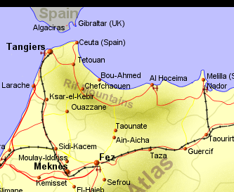 map with tangier