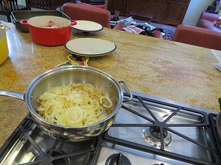 Sauteed onions, garlic a