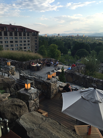 Grove Park Inn overlooking Asheville