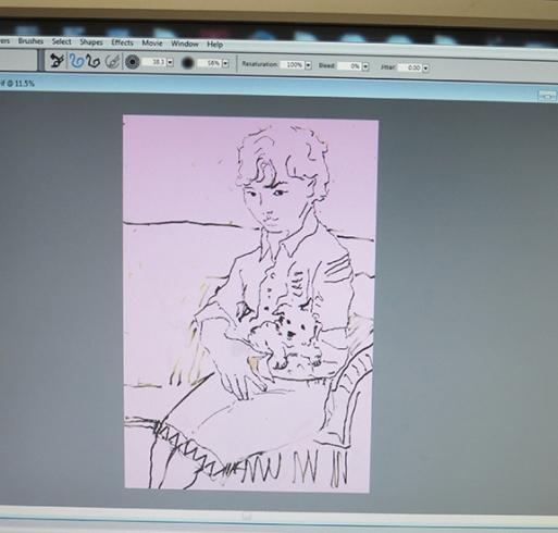 tinted drawing