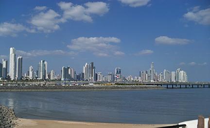 Modern panama City