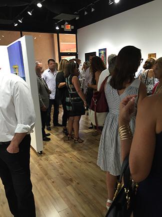 reception crowd