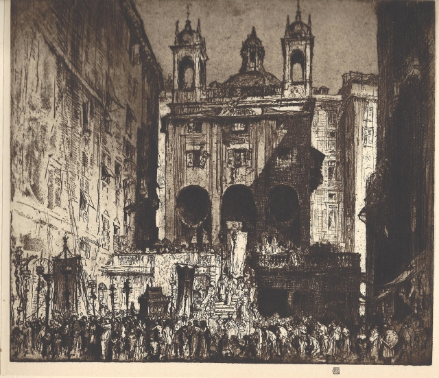 St Peter's of the Exchange, Genoa, published by the Fine Art Society, Ltd
