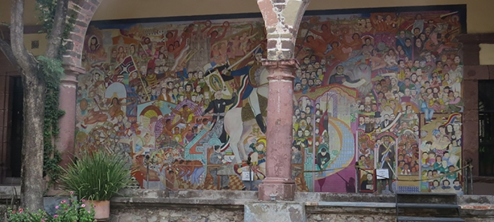 Mural in the Instituto de Allende