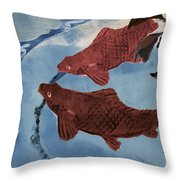 Fish Pond Throw Pillow