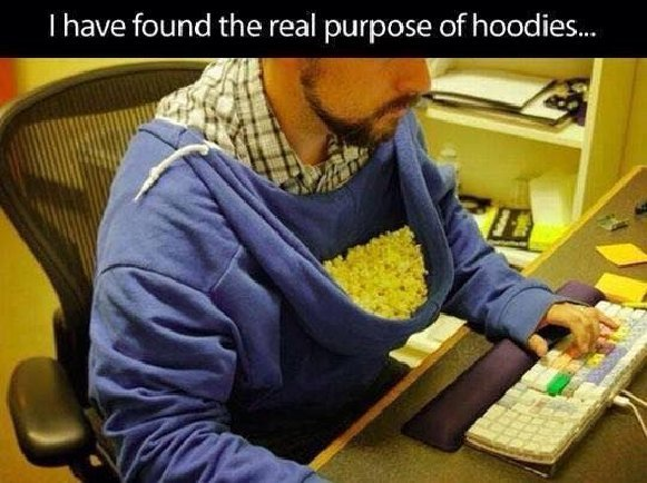 Proper use of a hoodie