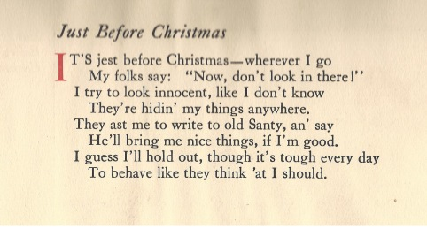 Just before Christmas