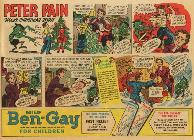 1951 peter pain ben gay newspaper ad